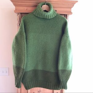 Hand Knit Chunky Oversized Turtle Neck Sweater